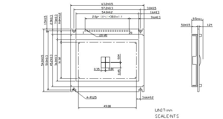 12864图形点阵液晶模块电路图        项目             数值