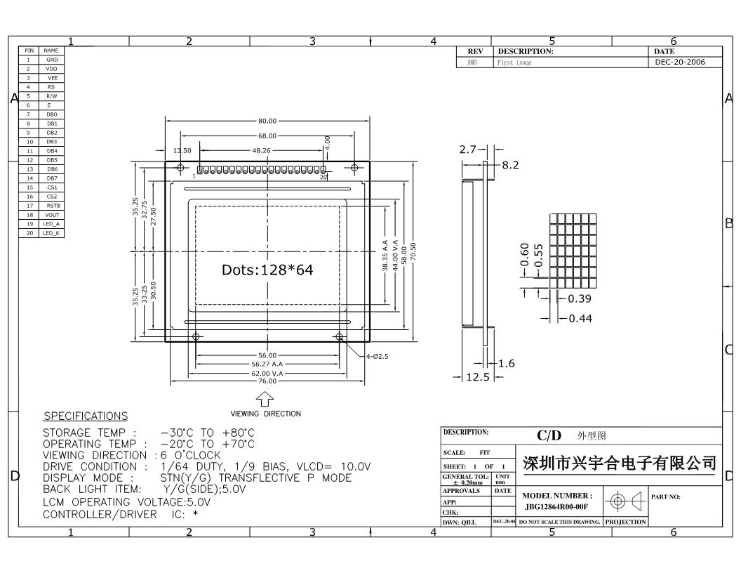 lcd12864显示电路的设计与分析