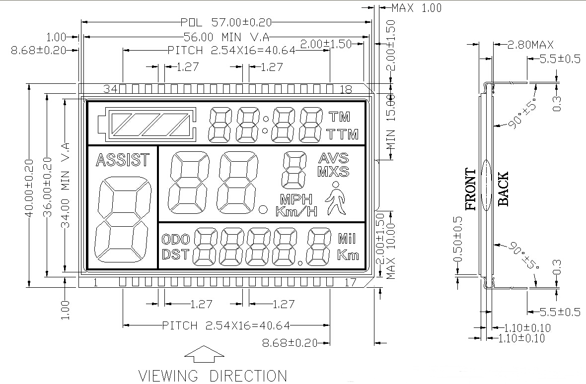 测速仪液晶显示屏-产品展示-深圳兴宇合公司